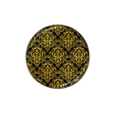 Damask1 Black Marble & Yellow Marble Hat Clip Ball Marker (4 Pack) by trendistuff