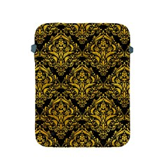Damask1 Black Marble & Yellow Marble Apple Ipad 2/3/4 Protective Soft Case by trendistuff