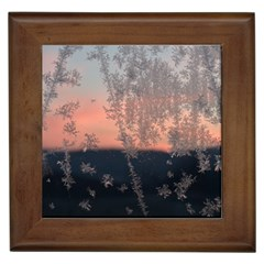 Hardest Frost Winter Cold Frozen Framed Tiles by Amaryn4rt