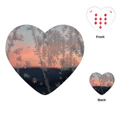 Hardest Frost Winter Cold Frozen Playing Cards (heart)