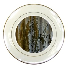 Grunge Rust Old Wall Metal Texture Porcelain Plates by Amaryn4rt
