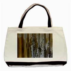 Grunge Rust Old Wall Metal Texture Basic Tote Bag by Amaryn4rt