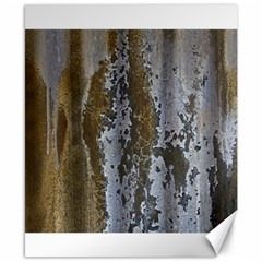 Grunge Rust Old Wall Metal Texture Canvas 8  X 10
