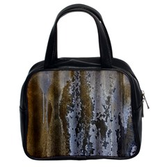 Grunge Rust Old Wall Metal Texture Classic Handbags (2 Sides) by Amaryn4rt