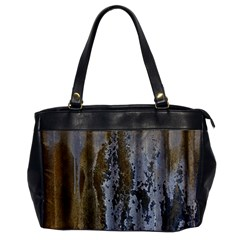 Grunge Rust Old Wall Metal Texture Office Handbags by Amaryn4rt