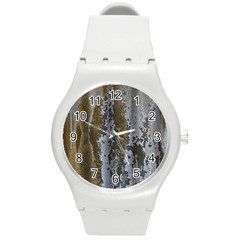 Grunge Rust Old Wall Metal Texture Round Plastic Sport Watch (m)