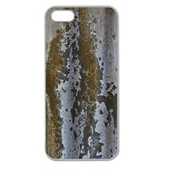 Grunge Rust Old Wall Metal Texture Apple Seamless Iphone 5 Case (clear) by Amaryn4rt