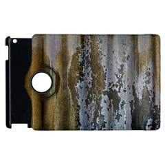 Grunge Rust Old Wall Metal Texture Apple Ipad 3/4 Flip 360 Case by Amaryn4rt