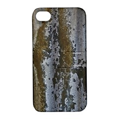 Grunge Rust Old Wall Metal Texture Apple Iphone 4/4s Hardshell Case With Stand by Amaryn4rt