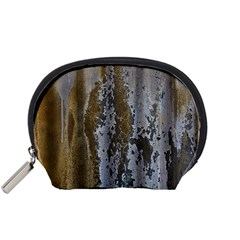 Grunge Rust Old Wall Metal Texture Accessory Pouches (small)  by Amaryn4rt