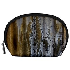 Grunge Rust Old Wall Metal Texture Accessory Pouches (large)  by Amaryn4rt