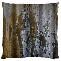 Grunge Rust Old Wall Metal Texture Large Flano Cushion Case (two Sides) by Amaryn4rt