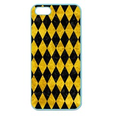 Diamond1 Black Marble & Yellow Marble Apple Seamless Iphone 5 Case (color) by trendistuff