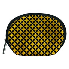 Circles3 Black Marble & Yellow Marble (r) Accessory Pouch (medium)