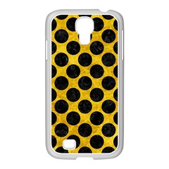Circles2 Black Marble & Yellow Marble (r) Samsung Galaxy S4 I9500/ I9505 Case (white) by trendistuff