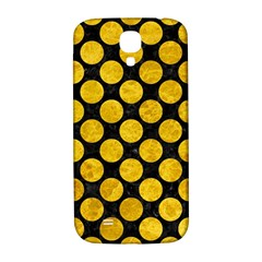 Circles2 Black Marble & Yellow Marble Samsung Galaxy S4 I9500/i9505  Hardshell Back Case by trendistuff