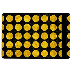 Circles1 Black Marble & Yellow Marble Apple Ipad Air 2 Flip Case by trendistuff