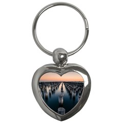 Logs Nature Pattern Pillars Shadow Key Chains (heart)  by Amaryn4rt
