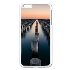 Logs Nature Pattern Pillars Shadow Apple Iphone 6 Plus/6s Plus Enamel White Case by Amaryn4rt
