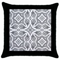 Mandala Line Art Black And White Throw Pillow Case (black) by Amaryn4rt