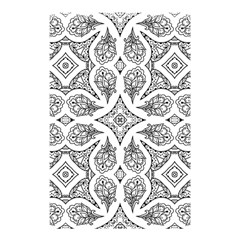 Mandala Line Art Black And White Shower Curtain 48  X 72  (small)  by Amaryn4rt