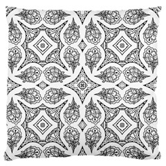 Mandala Line Art Black And White Standard Flano Cushion Case (one Side) by Amaryn4rt