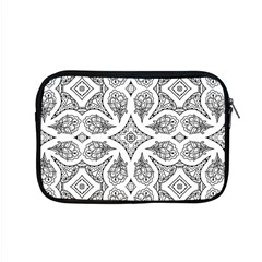 Mandala Line Art Black And White Apple Macbook Pro 15  Zipper Case by Amaryn4rt