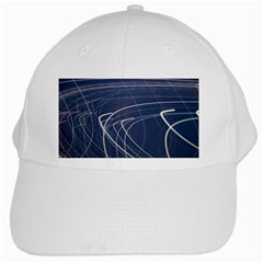 Light Movement Pattern Abstract White Cap