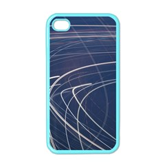 Light Movement Pattern Abstract Apple Iphone 4 Case (color)