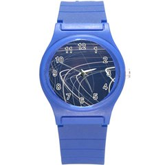 Light Movement Pattern Abstract Round Plastic Sport Watch (s) by Amaryn4rt