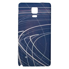 Light Movement Pattern Abstract Galaxy Note 4 Back Case