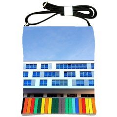 Office Building Shoulder Sling Bags by Amaryn4rt
