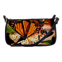 Monarch Butterfly Nature Orange Shoulder Clutch Bags by Amaryn4rt