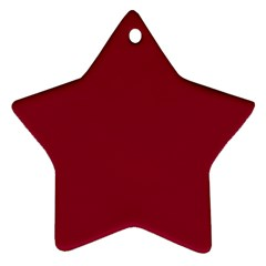 Deep Red Star Ornament (two Sides) by Valentinaart