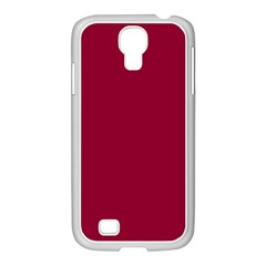 Deep Red Samsung Galaxy S4 I9500/ I9505 Case (white) by Valentinaart