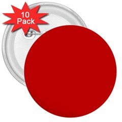 Just Red 3  Buttons (10 Pack)  by Valentinaart