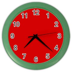 Just Red Color Wall Clocks