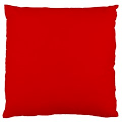 Just Red Large Cushion Case (two Sides) by Valentinaart