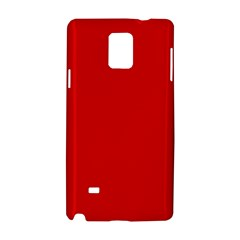 Just Red Samsung Galaxy Note 4 Hardshell Case by Valentinaart