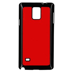 Just Red Samsung Galaxy Note 4 Case (black) by Valentinaart