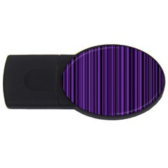 Purple Usb Flash Drive Oval (4 Gb) by Valentinaart