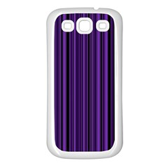 Purple Samsung Galaxy S3 Back Case (white) by Valentinaart