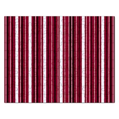 Red Lines Rectangular Jigsaw Puzzl