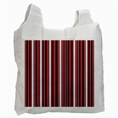 Red Lines Recycle Bag (one Side) by Valentinaart