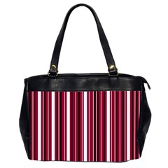 Red Lines Office Handbags (2 Sides)  by Valentinaart