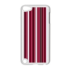 Red Lines Apple Ipod Touch 5 Case (white) by Valentinaart