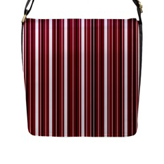 Red Lines Flap Messenger Bag (l)  by Valentinaart