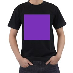 Purple Men s T Shirt (black) (two Sided)