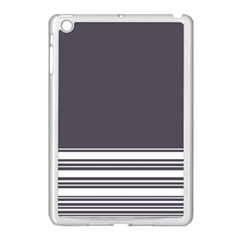 Gray Apple Ipad Mini Case (white) by Valentinaart