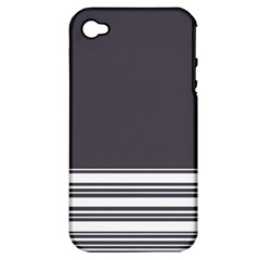 Gray Apple Iphone 4/4s Hardshell Case (pc+silicone)